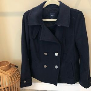 Gap Navy Wool Pea Coat